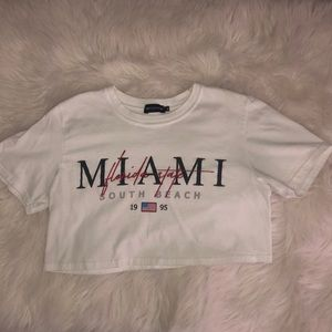 Miami South Beach crop top
